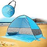 MG MULGORE Pop Up Tenda da spiaggia Sun Shelter Outdoor Leggero pieghevole Anti UV Famiglia Cabana portatile per 3 o 4 persone