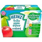 Heinz Fruité Crème De Poire Et De Pomme 4-36 Mths 4 X 100G - Paquet de 2