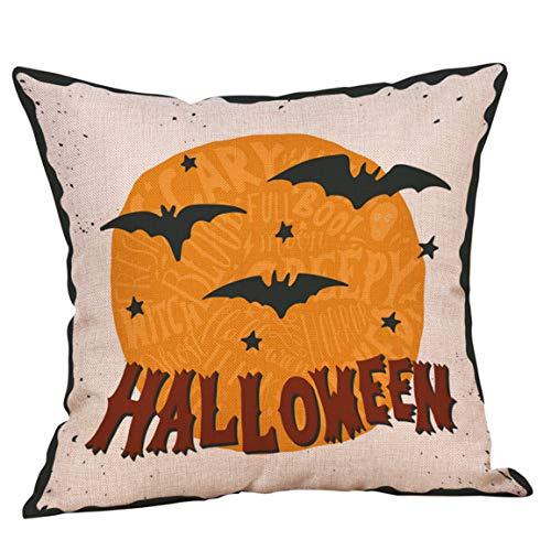 Moonuy Fshion Kissen Core Halloween Kissenbezüge Vlies Leinen Sofa Kürbis Geister Kissenbezug Günstige Wohnkultur 45 cm * 45 cm