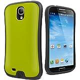 Cygnett Fitgrip Coque pour Samsung Galaxy S4 avec film de protection écran Gris anthracite/vert citron