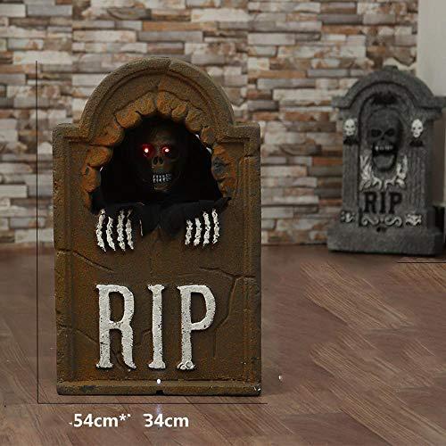 Lxj Halloween Grabstein Deko Thriller Haunted House Effekt Requisiten Urlaub beängstigend schmücken die Haus Atmosphäre Geister