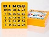 200 große Bingokarten für Senioren 25 aus 75 (orange)