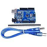 Quimat Carte UNO R3 ATmega328P CH340 Board pour Arduino avec Câble USB Pin Header 2.54mm Pitch