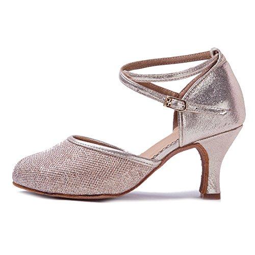 YKXLM Femme&Fille Chaussons de Danse Latine Standard Salle de Bal Chaussures,Maquette FRWXCL