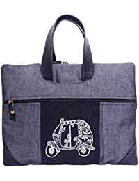 Literacy India Indha Hand Embroidery Work Black Colour Laptop Bag