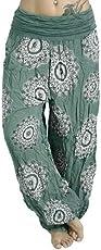 Doublehero Damen Mode Übergröße Gedruckt Haremshose, Leggings Freizeithose Strandhose Yoga Hose Elastische Taille Weich Bequem Lose Sporthose mit Taschen