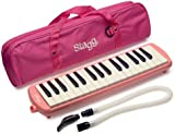 Stagg MELOSTA32PK 32 Note Melodica with Case - Pink