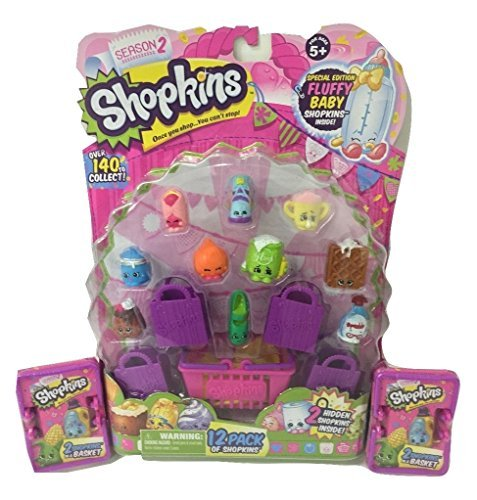 Shopkins Season 2: 16 Shopkins with 1 x 12-pack and 2 x 2-packs (3 Items)