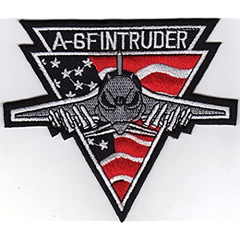Iron on Patch Embroidered Patches Application A-6 F Intruder Emblem Badge Big Size by JAB (Intruder Patch)