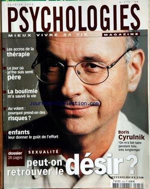 PSYCHOLOGIES MAGAZINE [No 216] du 01/02/2003