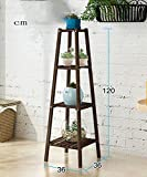 Shelf in Living Room Bedroom Kitchen Solid Wood Multi - Storey Floor Plant Stand Flower Pot Shelf Flower Rack For Balcony Living Room Indoor Decoration Rack YYJRR-Corner Shelves ( Color : Brown , Size : B )