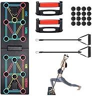 shoplease Push Up Rack Board, 12 en 1 Tabla de Flexiones Plegable, Push Up Board Multifuncional con Asas y Ban