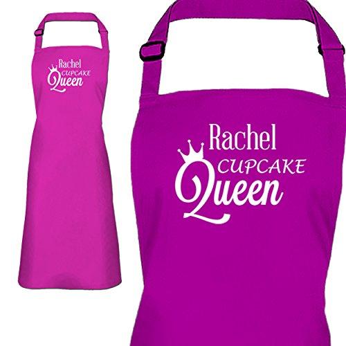 Da donna personalizzato rosa cupcake Regina grembiule personalizzabile con un nome a scelta
