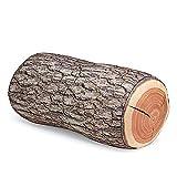 Aofocy Baumholzkissen Stumpfkissen Holzkissen Rundholz Körnung Stumpfform Dekorativ Umweltschutz Geeignet für Räume oder Sofas