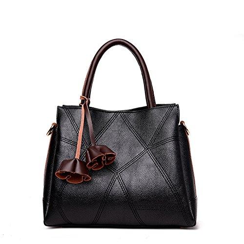 CengBao nuovo di mezza età femmina retrò casual pacco madre è una borsa elegante e semplice il flusso di pacchetti spalla su confezioni, blu Nero