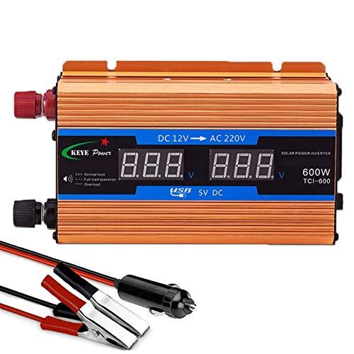 XBNBQ Wechselrichter Steckdosen 600W - 2600W 12/24/48/60/72 V DC bis 220V Sinus Wechselrichter Welle Spannungswandler Inverter Spannungswandler für Auto Ladegerät Adapter,USB Konverter600W-60V