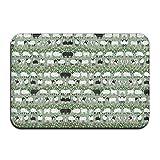 Daisylove Pecore Fiori Piante Porta tappetini da Esterno 59,9cm (L) x 39,9cm (W)