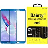 Dainty Tempered Glass Screen Guard for Honor 9 Lite (5.65 inch, Blue Colour, Full Glue Edge to Edge Glass)
