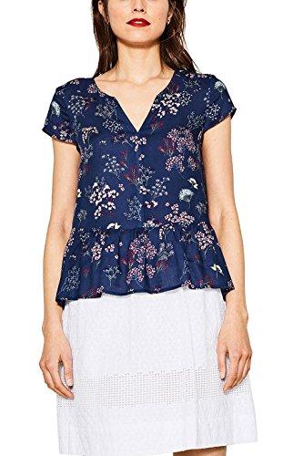 ESPRIT 067ee1f003, Camicia Donna Multicolore (Navy 400)