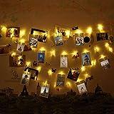 Foto Clips Lichterkette, infinitoo 40 LED Foto lichterkette mit klammern für Innenbeleuchtung Deko, stimmung beleuchtung, Weihnachten, Valentinstag, Hochzeit, Party und Haus Deko