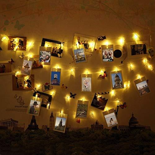 Foto Clips Lichterkette, Infinitoo 40 LED Foto Lichterkette Mit Klammern  Für Innenbeleuchtung Deko, Stimmung Beleuchtung, Weihnachten, Valentinstag,  ...
