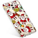 Kompatibel mit Handyhülle Huawei Mate 10 Schutzhülle Silikon Transpatente Hülle mit Weihnachten Muster Durchsichtige Handytasche Ultra Dünn Weich TPU Bumper Case Backcover,Santa Claus