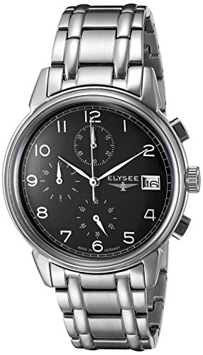 ELYSEE Men's 80551S Classic-Edition Analog Display Quartz Silver Watch