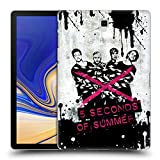 Head Case Designs Offizielle 5 Seconds of Summer Gebunden Rosa Gruppenbild Splatter Kunst Ruckseite Hülle für Samsung Galaxy Tab S4 10.5 (2018)