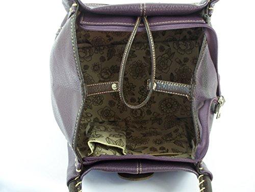 GFM Fashion, Borsa a secchiello donna Purple (JMN-11)