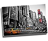 New York City Schwarz und Weiß Wall Art Print auf Leinwand Bild Kunstdruck auf Leinwand groß A176,2x 50,8cm (76.2cm x 50.8cm)