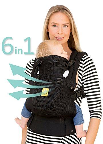 Porte-bébé ergonomique à 360° LILLEbaby avec SIX positions - COMPLET Flux d'air (Noir) LILLEbaby