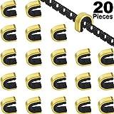 Gejoy 20 Pezzi Tiro con Arco a Punti Nock String Nocking Punti Clip con Fibbia Ad Arco per Arco Composto e Ricurvo