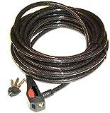 Cable antirrobo/candado de cable 12 mm de grosor extra larga 10 Meter como candado para bicicleta, también para jardín