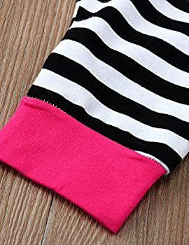Weant Baby Boy Girl Clothes Unisex Infant Outfits Set Clothing Halloween Costume 2pcs Hoodie Sweatshirt Tops + Striped Pants (12 - 18 Months, Hot Pink) 5