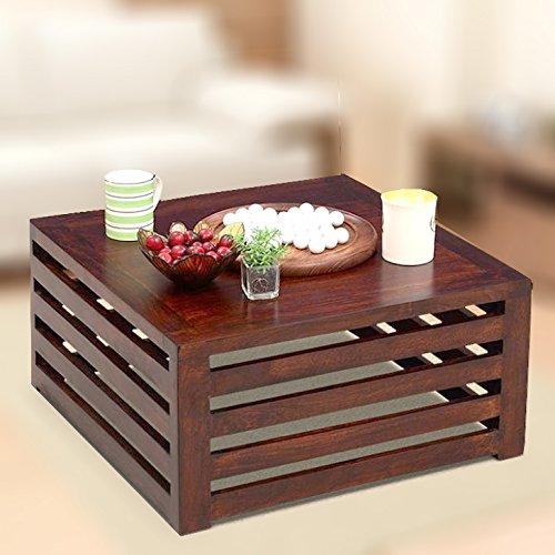 Homeedge Honey Coffee Table Of Mango Wood 23 X 23 X 11 Inches
