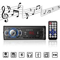 Autoradio Bluetooth Radio Stereo Reproductor de Audio MP3 con Control Remoto Radio FM Soporte de Llamadas Manos Libres, USB / Tarjeta TF / Receptor AUX, para Varios Automóviles y Camiones