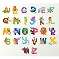 Alphabet Wall Sticker Animals 70cm wide Wall Sticker Learn letters kids room decal children art graphics lettering mural