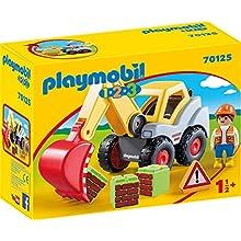 Playmobil 70125 1.2.3 Shovel Excavator for Children 18 Months+