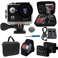 Besty Original 4K Actioncam Action cámara WIFI 12MP 2pulgadas Full HD 1080p 170° Gran Angular de agua Densidad Waterproof Sport Cámara Mini DV Videocámara Sports Camera con mando a distancia y 2unidades de baterías Negro