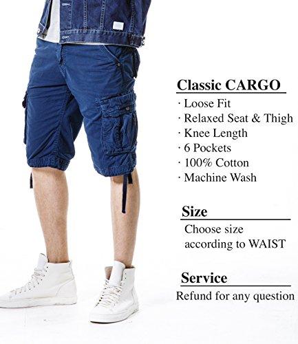... GUUKA Herren Bermudas Cargo Shorts Saphirblau ...
