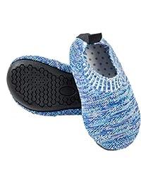 Ruiuzi Zapatillas de Estar por Casa para Niños Chicos Antideslizantes Calcetines Zapatos de Deporte con Suela de Goma