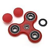 Fidget Tri (dreifach) Spinner Special Version mit 4 Kugellagern Anti Stress Kreisel Hand Spielzeug mit Keramik Kugellagern in Rot von VAPIAO -