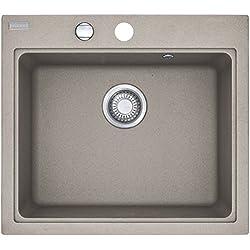 Franke Maris MRG 610–58in FRAGRANITE Cashmere Grigio lavandino da cucina lavello da incasso