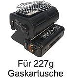 Gas Camping Kocher 2 in 1 Heizung Heizer für MFS-1A 227 Gramm Butan Gas Kartusche