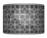 50cm (50,8cm) anthrazit grau handgefertigt Retro Geometrische Giclée-Style bedruckter Stoff Lampe Drum Lampenschirm Boden oder Decke Pendelleuchte Schatten 341