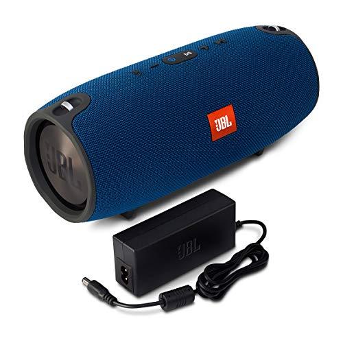 JBL Xtreme Spritzwasserfester Tragbarer Bluetooth Lautsprecher mit 10,000 mAh Akku, Dualem USB-Ladeanschluss und Freisprechfunktion - Blau