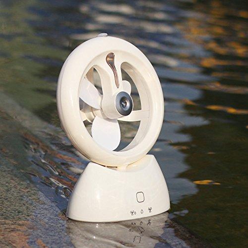 ZEELIY Ladewasser Assistent Luftbefeuchter Lüfter Luftreinigungslüfter USB Feuchtigkeitslüfter Luftbefeuchter + Tragbar Fan für Camping, Outdoor-Sport, Büro, Alltag