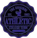Athletic Surfer Shield College Team Emblem Badge Hochwertigen Auto-Autoaufkleber 12 x 12 cm