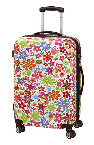 CHECK.IN Koffer Trolley Reisekoffer Hartschale Flower Hartschale XL 76 Bunt