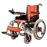 Cochecito eléctrico BNMYSY, silla de ruedas plegable y asiento inteligente eléctrico, liviano y autopropulsado, respaldo ajustable, ancho del asiento 34 cm Peso máximo 75 kg